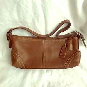 Brown leather Coach Bag never used.